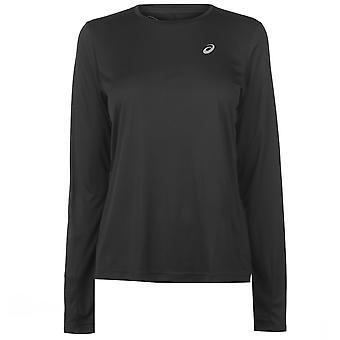 Asics Womens Core Long Sleeve Running Top Ladies Crew Neck T-Shirt Tee