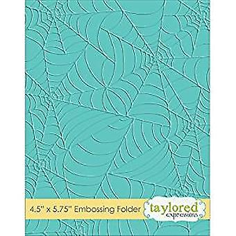 Taylored Expressions Tangled Webs Embossing Folder