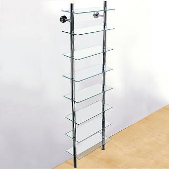 Splash - Wall Mounted Glass Badezimmer Abstellraum Shelf - Clear