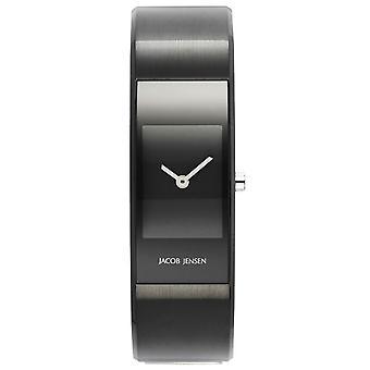 Jacob Jensen Eclipse Series Large Watch-Black/Black