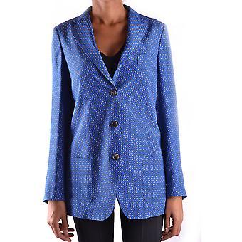 Alberto Biani Ezbc237002 Femmes-apos;s Blazer en soie bleue