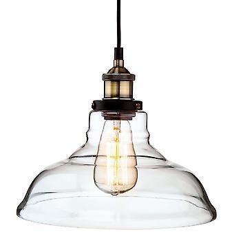Firstlight-1 lys tak anheng antikk messing, klart glass-3472AB