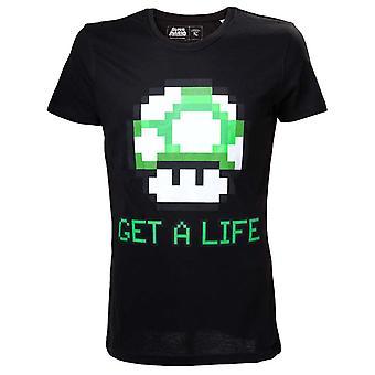 Mäns Super Mario Bros. få ett liv T-shirt