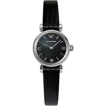 Emporio Armani Ar1684 clássico relógio de mulher de couro retro