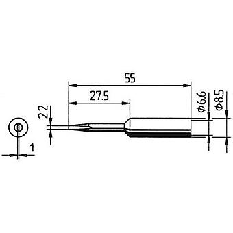Ersa 832 KD LF Soldering tip Chisel-shaped, elongated Tip size 2.2 mm Content 1 pc(s)
