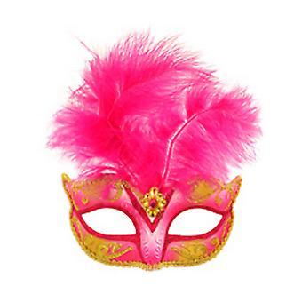 Henbrandt Feather Glitter Eye Mask