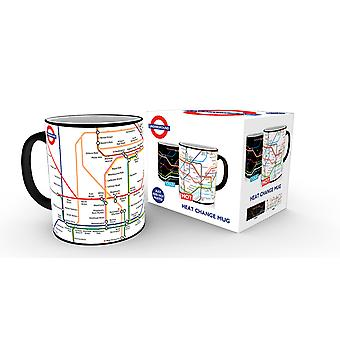 Transport For London U-Bahn Karte Hitze ändern Mug