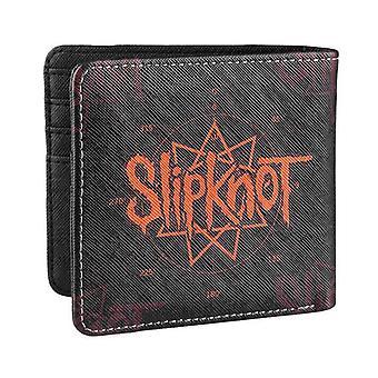 Slipknot Portemonnee pentagram band logo all over print officiële zwarte Bifold