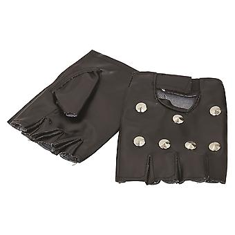 Bristol Novelty Unisex Adultos Studded Punk Guantes