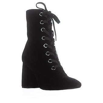 BCBGeneration Womens Alexa Velvet Almond Toe Ankle Fashion Boots
