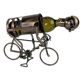Viinipullo haltija pyöräilijä