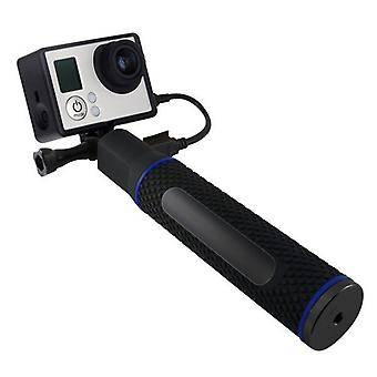 Selfie stick with Power Bank for action camera 5200 mAh