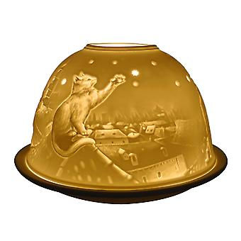 Light Glow Dome Tealight Holder, Cats on the Roof