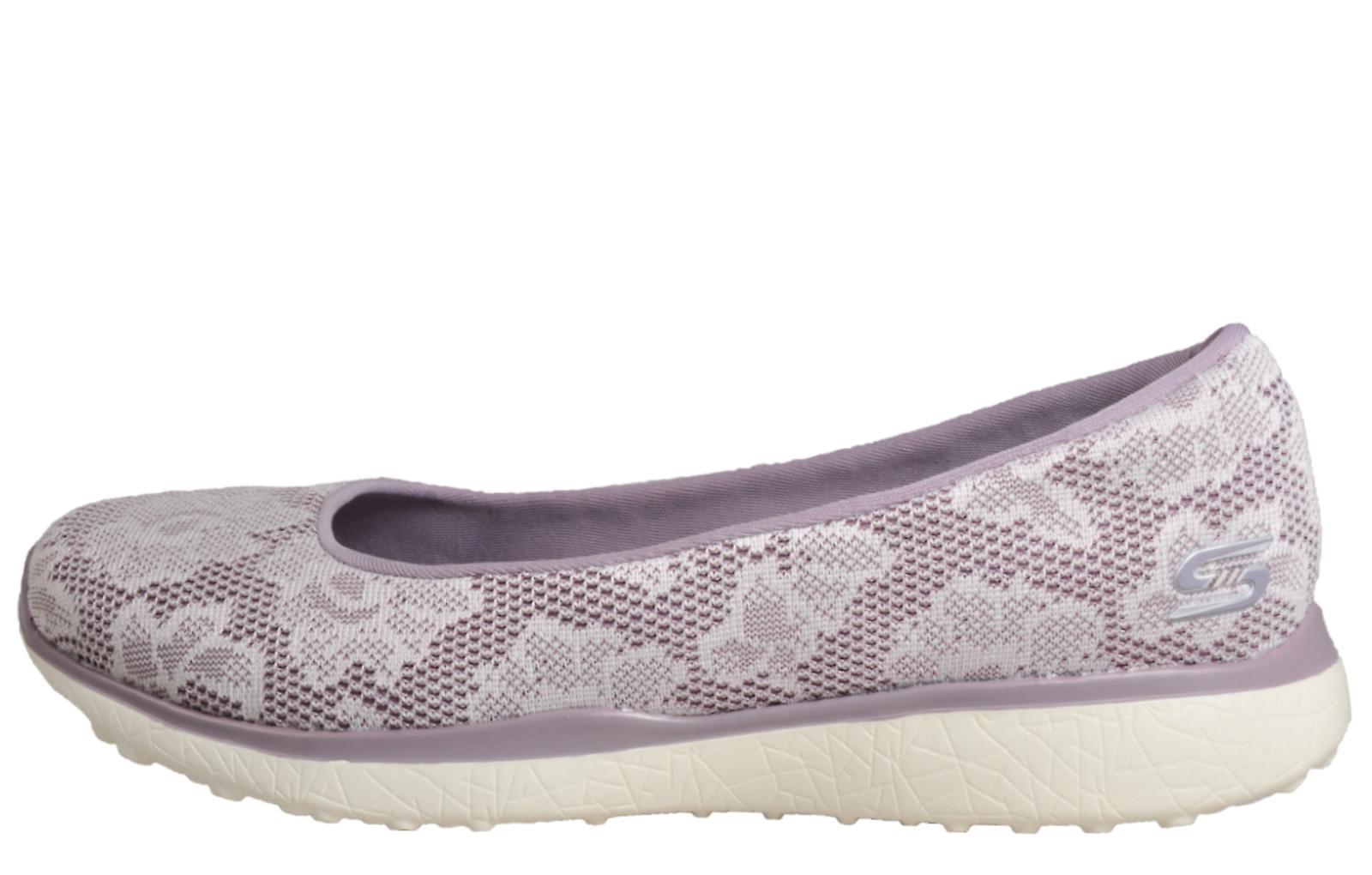 Skechers Microburst Memory Foam Soft Lavender - White