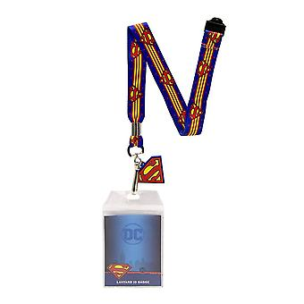 Superman Lanyard met badge en rubber charme