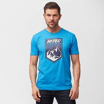 Nieuwe Hi Tec mannen ' s Alps korte mouw T-shirt blauw