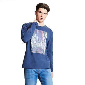 Våg 2b menns industri grafisk langermet casual T-skjorte