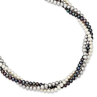 925 Sterling Silver Fancy Lobster Closure 5 5.5mm Freshwater Cultured Potato Pearl With 2inch Ext. Necklace 17 Inch Jewe