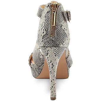 Xoxo mulheres Belinda plataforma vestido sandálias de couro peep toe ocasião especial...