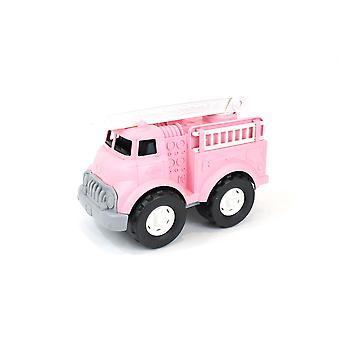 Groen speelgoed brandweerwagen-roze