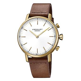 Kronaby S0717-1 Women's Carat Smartwatch Brown Strap