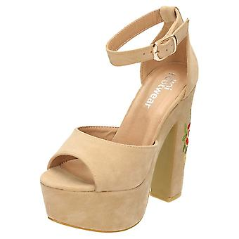 Koi Footwear High Heel Platform Peep Toe Shoes Sandals Faux Suede