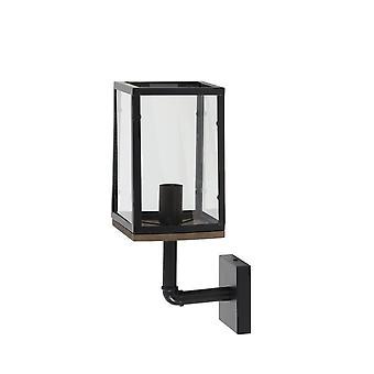 Lys & levende vegg lampe 16, 5 X 22, 5 X 44 Cm Corbelia maths Black + klart glass