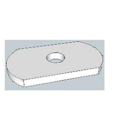 M6 Single Hole Plate / Washer For Channels T316 Stainless Steel 25 Mm Wide
