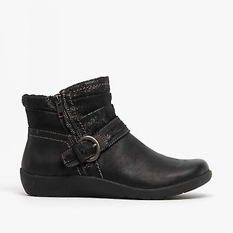 Earth Spirit Fairfax Ladies Nubuck Leather Ankle Boots Black