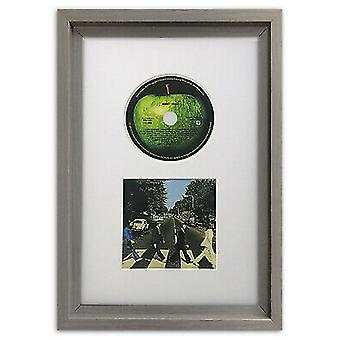 CD Picture Frame Hoxton Grey Memorabilia Wall Album Display with a White Mount