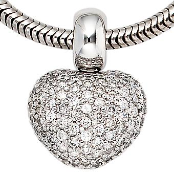 Pendant heart CHERIE 585 white gold diamonds 0.936 ct