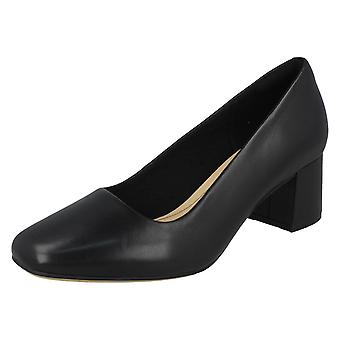 Ladies Clarks Block Heeled Shoes Sheer Rose