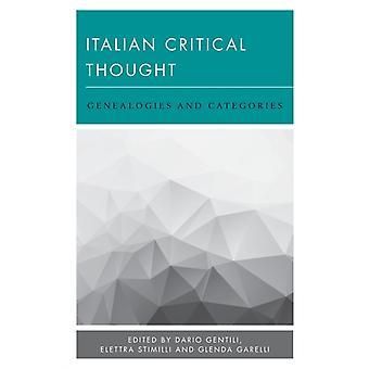 Italian Critical Thought by Dario Gentili