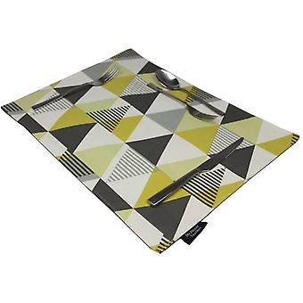 Mcalister textiles vita ochre yellow table placemat sets