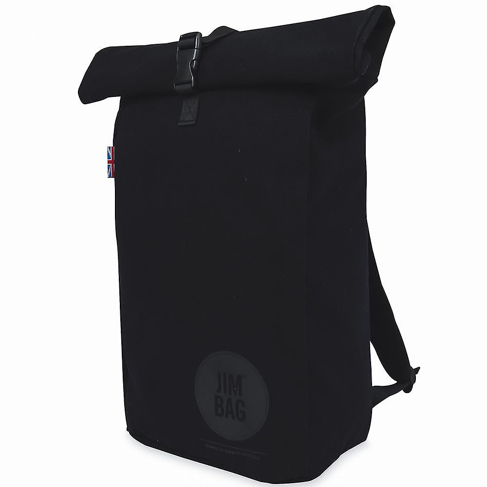 JIMBAG Black Travel Fitness Gym Rolltop Outdoor Waterproof Backpack Bag Fits Laptop