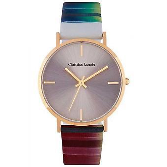 Christian Lacroix CLFS1803 Uhr - Damen Ledermuster Armband