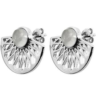 Mia Silver Earrings - Moonstone