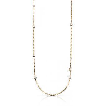 Halsband och hänge antar UBN84078 - halsband och hänge Crystal M tal dor guld kvinna