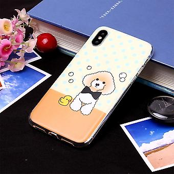 Para iPhone XS Max Case Cartoon Dog TPU Protective Back Cover