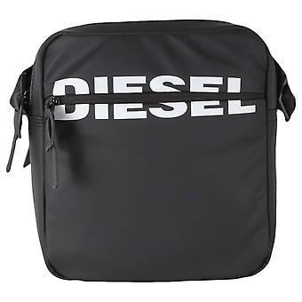 Diesel F-Bold Doppel-Umschlag Tasche - Schwarz