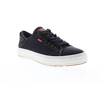 Levis Neil LO 501 Denim  Mens Black Canvas Low Top Sneakers Shoes