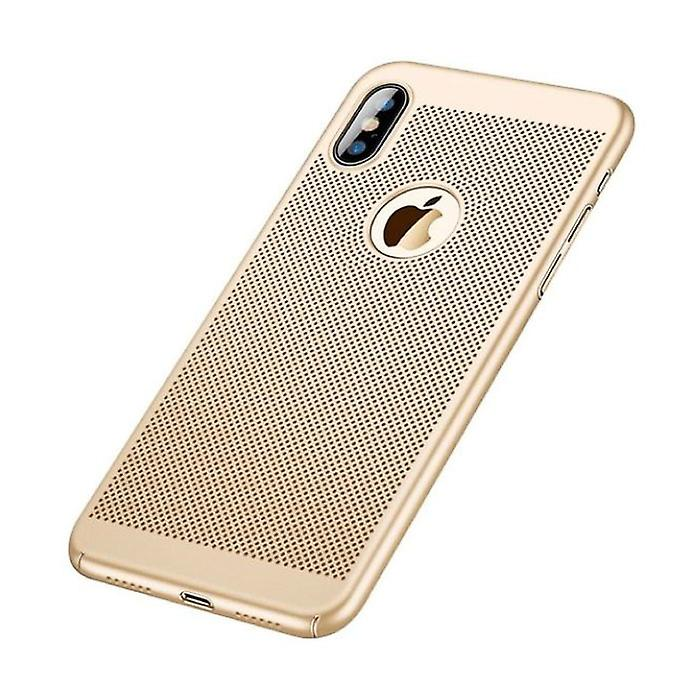 Stuff Certified® iPhone XS Max - Ultra Slim Case Heat Dissipation Cover Cas Case Gold