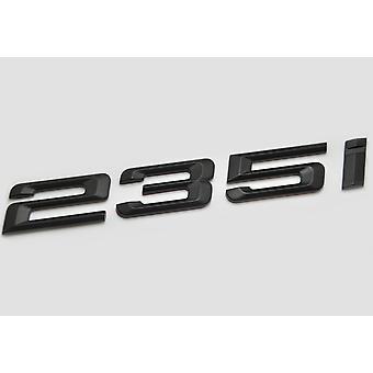 Matt Black BMW 235i Car Badge Emblem Model Numbers Letters For 2 Series F22 F45 F46