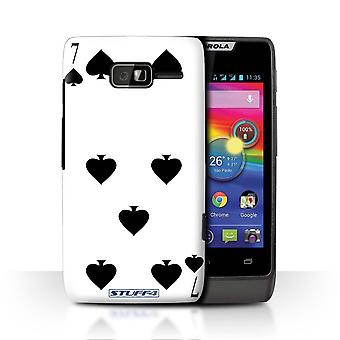 STUFF4 Case/Cover for Motorola RAZR D1/7 of Spades/Playing Cards