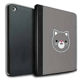 STUFF4 PU Leather Book/Cover Case for Apple iPad Air 2/Cat / Kitten Art/Cute Minimalist Animals
