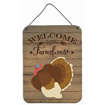 French Turkey Dindon Welcome Wall or Door Hanging Prints