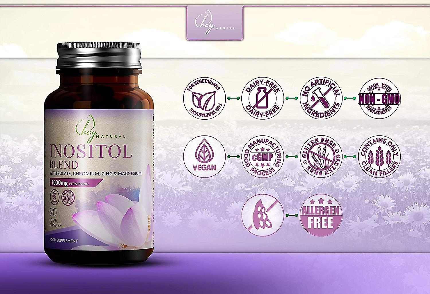 Hey Natural Inositol Blend Capsules