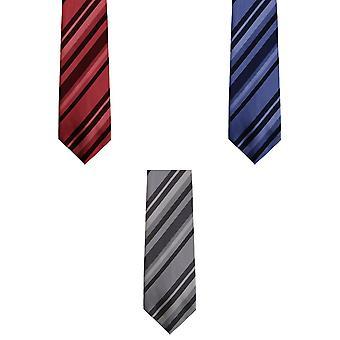 Primer ministro Tie - Mens Multi raya trabajo Tie