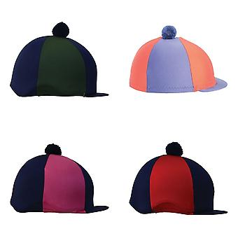 Hy Two Tone Lycra Hat Silk With Bobble
