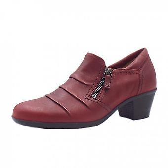 غابور شيربرت أحذية أزياء الكعب المنخفض باللون الأحمر الداكن
